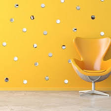 round mirror wall stickers removable