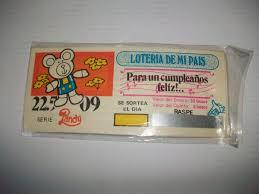 Antiguas Invitaciones Cumpleanos Boleto Loteria Del 70 180 00