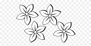 black and white free clip art flowers
