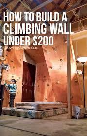 climbing wall diy climbing wall
