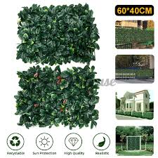 40x60cm Artificial Ivy Vine Fake Foliage Hanging Leaf Plant Fence Mat Decor Shopee Philippines