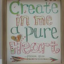 Wall Art Create In Me A Pure Heart Wood Picture Nwt Poshmark