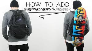 how to make skateboard backpack you