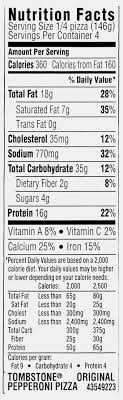 pepperoni pizza slice nutrition facts