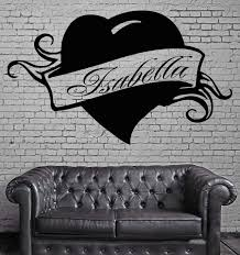 Isabella Personalized Name Lettering Custom Wall Art Decor Vinyl Stick Wallstickers4you