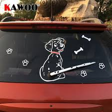 Fashion Car Cartoon Animal Sticker Moving Tail Cute Puppy Dog Auto Stickers Reflective Car Styling Rear Wiper Dec Animal Stickers Cute Puppies Dogs And Puppies