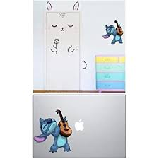Amazon Com Lilo And Stitch Decals Stitch Stickers Stitch Guitar Dancing Macbook Sticker For Cars Laptops Walls Decor By A B Traders Computers Accessories