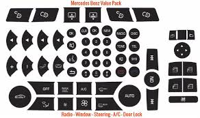 Mercedes Benz C 5 Pack Ac Button Repair Kitac Button Repair Kit