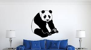 Panda Bear Wall Decal Vinyl Decals Nuovocreations Com Nuovocreations