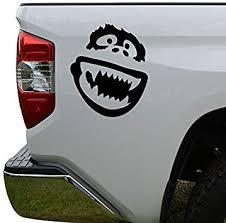 Amazon Com Hiweike Abominable Snowman Yeti Vinyl Decal Laptop Car Truck Bumper Window Sticker Automotive