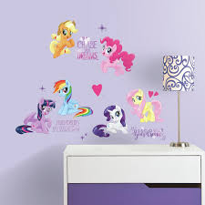 My Little Pony The Movie Peel And Stick Wall Decals With Glitter Walmart Com Walmart Com