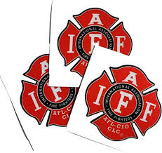 Amazon Com Three Pack 2 Reflective Helmet Iaff Union True Red 3m Vinyl Firefighter Us Made Decal Sticker Everything Else