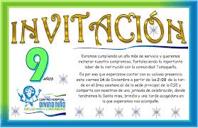 Centro Hospital Divino Nino Invitacion Cumpleanos Chdn