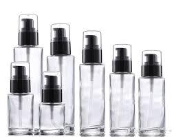 100ml lotion bottle empty clear glass
