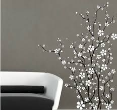 Flower With White Cherry Blossom Sticker Tree Branch Wall Decal For Bedroom Wall Decals For Bedroom Vinyl Tree Wall Decal Vinyl Wall Art Trees