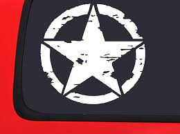 Amazon Com Oscar Mike X 2 Military Star Ww2 Truck Window Decal Sticker Automotive
