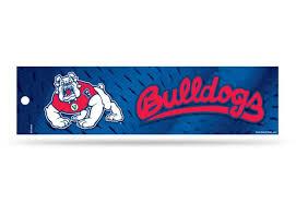 Fresno State Bulldogs Bumper Sticker Officially Licensed Custom Sticker Shop