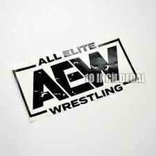 Aew Wrestling Sticker Decal 10 Inch All Elite Wrestling Car Decal Window Locker Ebay