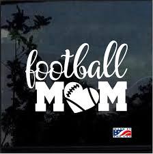 Football Mom Heart Window Decal Sticker Custom Sticker Shop