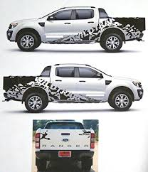 Matte Black Wildtrak Color Sticker Cover Car Decal Vinyl Ford Import It All