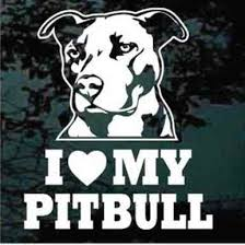 I Love My Pitbull Car Decals Window Stickers Decal Junky