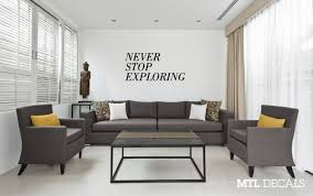 Never Stop Exploring Wall Decal Travel Wall Sticker Home Decor Mtl Decals