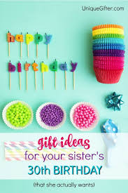 20 gift ideas for your sister s 30th