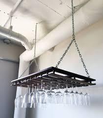 custom hanging wine glass rack by
