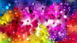 colorful love background vector image