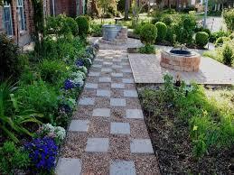 pea gravel patio ideas garden path
