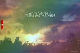 car quote rainbow sky smile text image on com
