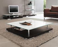 white large square coffee table