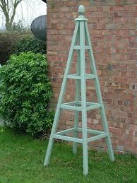 wooden garden obelisk i think we can