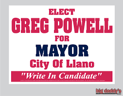 Greg Powell, Write-In Candidate for Llano Mayor - Home | Facebook