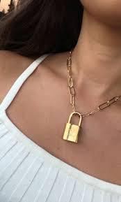 louis vuitton lock pendant necklace