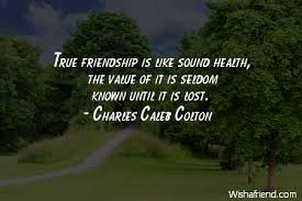 true friendship is like sound charles caleb colton quote