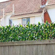 Expanding Trellis Artificial Plant Garden Green Wall Leaf Ivy Wood Fen Simply Homeware