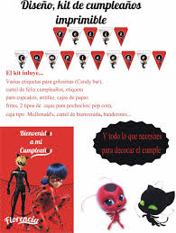 Ladybug Kit Imprimible Decoracion Cumpleanos Personalizados