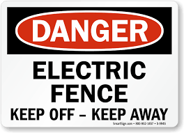 Electric Fence Signs Warning Electric Fencing