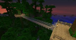 Jungle Tree Rope Bridge Minecraft