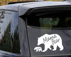 Bear Cub Decal Etsy