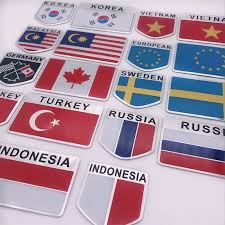 Super Sale Ee6f05 Aluminum Alloy America France England National Flags Car Styling Motorcycle Luggage Decal Emblem Badge Car Sticker Cicig Co