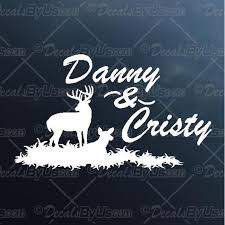 Shop Now For Couple Names Deer Design Car Window Stickers