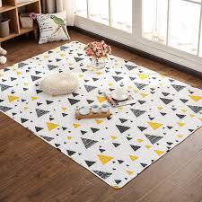 100 Cotton 3d Carpet Anti Skid Mats Geometric Carpet For Living Room Mat Kids Bedroom Rugs Alfombras Dormitorio Carpet Aliexpress