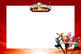 Kit Digital Para Impressao Power Rangers Samurai Invitaciones