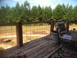 Our New Deck Railing With Cattle Panels Deck Railings Deck Deck Stair Railing