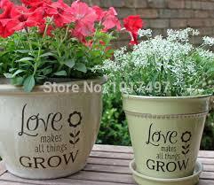 Garden Sticker Diy Flower Pot Label Decal Love Makes All Things Grow Planter Garden Decor N2005 Garden Decorative Wall Plaques Garden Decor Craftsgarden Decor Gift Aliexpress