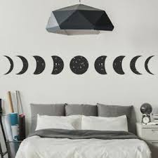 Full Moon Wall Sticker Moon Phase Wall Decal Planets Space Home Decor Ebay