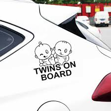 Car Styling Sign Stickers Baby Twins On Board Car Stickers Motorcycle Car Styling Full Body Window Vinyl Warning Car Sticker Car Stickers Aliexpress
