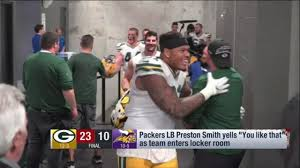 Preston Smith yells 'You like that!' after Packers win
